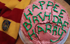 Lets Eat Fiction Hagrids Birthday Cake For Harry Harry Potter