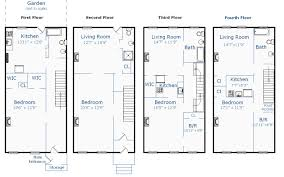 exciting new york house plans modern row house floor plans home design brownstone building plans