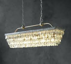 crystal rod rectangular by restoration hardware a with chandelier lighting ideas 19