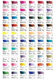 Watercolor Palette Chart 105 Individual Colors
