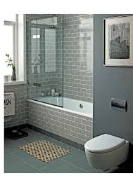 Gray is the newest trend in neutral colors and this bathroom works it well   Shower Ideas BathroomBathtub ...
