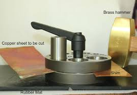 how to cut copper sheet for jewelry how to use a disc cutter for jewelry making