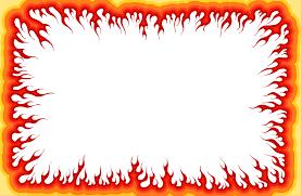 cartoon fire flame frame png