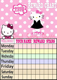 Hello Kitty Reward Chart Free Printable Hello Kitty Birthday Invitation Cards 2016 Hello