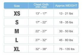 Rabbitgoo Dog Harness Size Chart Expository Dog Harness Sizes Chart 2019