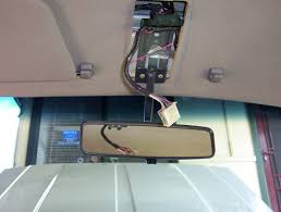 overhead console install the other wiring to be done is fit the temperature sensor behind the bumper and run the loom up behind the headlight to its plug near the underside of the