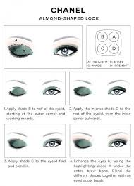 chanel eye makeup chart chanel almond shaped look how to