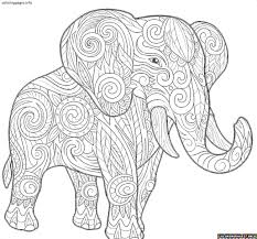 Mandala Coloring Sheets Free Printable With Awesome Elephant Pages