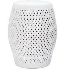 chinese garden stool. Chinese Garden Stool Ceramic Barrel 18.5-in Diamond Cream White Asian Patio Home