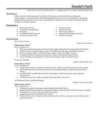 choose resume for data entry