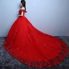 ilovewedding red white big wedding dresses cathedral royal train