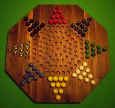 Wooden Board Game With Marbles Wooden Marble Game Board Chinese Checkers 100Player 100 Octagon Walnut 97