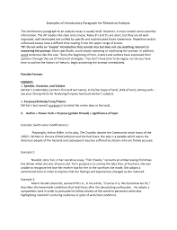 Example Of A Analysis Essay Examples Of Introductory Paragraph For Rhetorical Analysis The