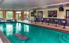 Plain Home Indoor Pool With Bar Photo Provided O To Design Inspiration