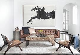 original art abstract horse painting black white minimalism canvas art