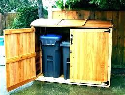 hide outdoor trash can wooden holder wood bin storage garbage outside hol