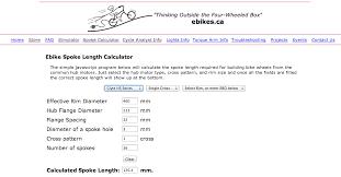 Motorcycle Spoke Size Chart