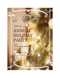Company Christmas Party Invites Templates Holiday Party Invitation For Business Event