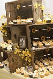 50 unique rustic fall wedding ideas wedding food wooden crates display cupcakes