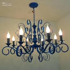 8 light chandelier luxury painted blue iron 8 lights chandeliers new modern living dining room chandeliers 8 light chandelier