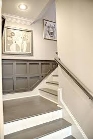 painted basement stairs. Stairways And Railings Basement Staircase Detail Gray Painted Stairs  Railing Wainscoting Designs