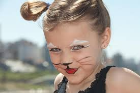 kitty cat face stock photo image of makeup kids looking 21818980
