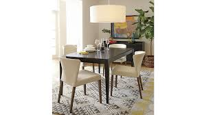dining table crate and barrel lowe pewter leather dining chair crate and barrel lyle metal