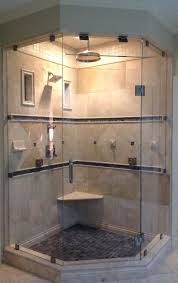 photo neo angle steam shower with starphire glass installed in cary by mia shower doors