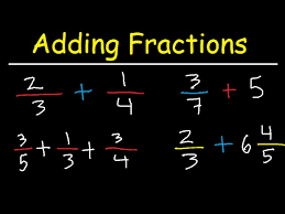 adding fractions with diffe