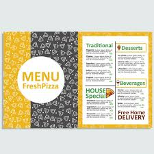 Pizza Restaurant Menu Template Vector Free Download