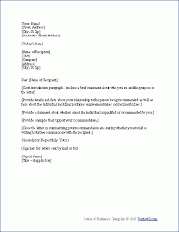 employment letter examples free letter of recommendation examples samples free