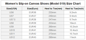 Slip On Size Chart Red Queen Black Crown Elena Slip On Canvas Shoes Womens