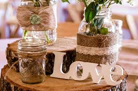 Rustic Wedding Centerpiece For A Country Style WeddingCountry Style Wedding Photos