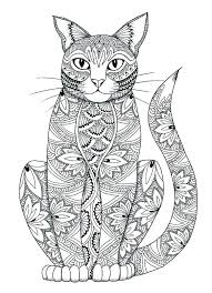 Cat Coloring Pages For Adults Free Jokingartcom Cat Coloring