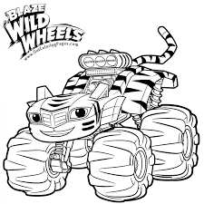 Stripes Blaze And The Monster Machines Coloring Pages Colouring