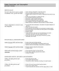 job description template –    free word  excel  pdf format    retail sales associate job description pdf download