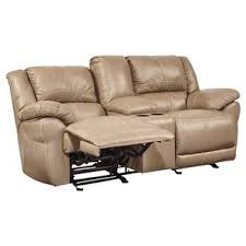 Lenoris Glider Reclining Loveseat with Console Ashley Furniture