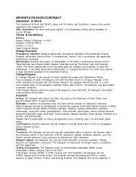design statement of work sample web design contract ferrigon media