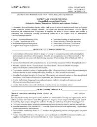 Elementary School Principal 1 Image Principal Resume Pinterest