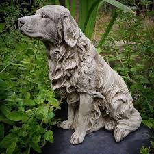 golden retriever dog garden ornament