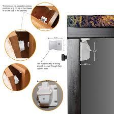 Hidden Drawer Lock Amazoncom Azenvita Child Safety Magnetic Cabinet Locks Hidden