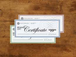 gift certificate for business print custom gift certificates for your small business