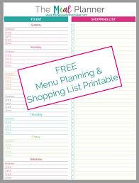meal planner free meal planner printable the happier homemaker