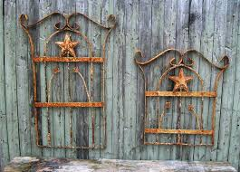on cast iron outdoor wall art with chase wrought iron art work metal star