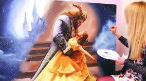 beauty and the beast oil painting