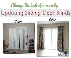 super easy home update replace those sliding blinds with a curtain rod and curtains why i