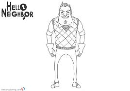 Hello Neighbor Coloring Pages Mr Peterson Free Printable Coloring