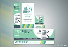 Green Layouts Light Green Business Technology Web Banner Layouts Buy This