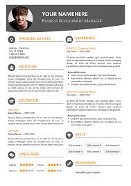 Contemporary Resume Templates Amazing Hongdae Free Modern Resume Template Orange Classic Resume