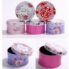 Gift Boxes Candy Storage Box Round Irrigation Wedding Candy Jewelry Boxes Minesouq